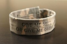 The Rushing Bracelet:  Made with Air Force camis  Inspired by Bands For Arms fan, Kevin Rushing