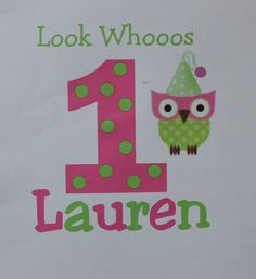 Owl Personalized girl birthday toddler shirt or by PolkaDautz, $16.00