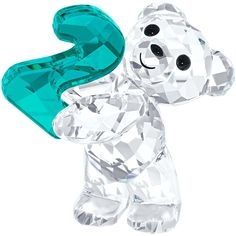 Swarovski Crystal Kris Bear with Number 2 I want this for my upcoming 2 year cancer free anniversary in August 2016. Perfect color too
