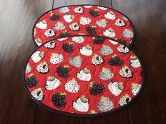 Handmade Chicken Oval Placemats. Home Decor.Quilted Place Mats.Patchwork Placemats.Easter Gift.Table Topper. by PetrinaRigbyQuilting on Etsy