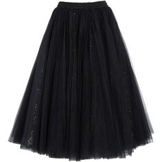 Ashish Sequined tulle maxi skirt, Black, Women's, Size: XS ($995) ❤ liked on Polyvore featuring skirts, bottoms, ashish, saia, sequin skirt, long tulle skirt, floor length skirts, floor length tulle skirt and layered maxi skirt