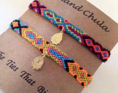 Set of 2/Skinny Friendship bracelet set/BFF/Couple/Best friend/stack