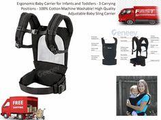 Veenev Ergonomic Baby Carrier Black for sale online Ergonomic Baby Carrier, Best Baby Carrier, Baby Sling, Baby Carriers, Sling Backpack, Infant, Backpacks, Black, Baby
