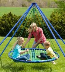 Beyonds Outdoor Swing, Giant Round Web Tree Net Swing with Swing Set Anchors and Hanging Ropes 500 kg Capacity, Adjustable Length Hanging Ropes Easy Install Outdoor Toys, Indoor Outdoor, Outdoor Play, Outdoor Living, Swing Set Anchors, Outdoor Hammock Chair, Web Swing, Playground Toys, Tire Swings
