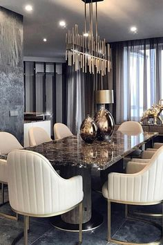 Modern Luxury Dining Room Sets 42 Inexpensive Dining Room Design Ideas for Your Dream House Elegant Dining Room, Luxury Dining Room, Dining Room Sets, Dining Tables, Ikea Dining, Dining Area, Modern Dining Sets, Dinning Set, Coffee Tables