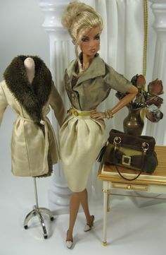 Absolutely gorgeous Fashion Doll Outfits - even sells patterns