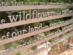 """Children's garden Maybe no """"message"""" but words that name what is in the immediate natural world.  Wildflower, Soil, Snail, Mint, Water, Sun, Basil........."""