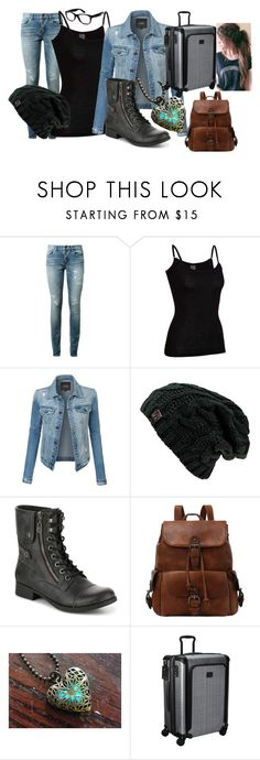 """""""Moving in - Astrid"""" by twilightphonix on Polyvore featuring Yves Saint Laurent, Icebreaker, LE3NO, Tumi and Ray-Ban"""