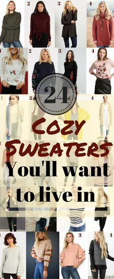 af07194621aa7 24 Cozy Womens Sweaters 2017 Fall Styles Under $99 Chunky Knit Sweaters //  Womens Fall