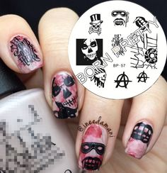 Nagel Schablone BORN PRETTY 57 Nail Art Stamp Stamping Template Plates