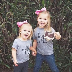 There is no better friend than a big sister. // Big sister announcement - Little Faces Apparel graphic sister tees @beemw!!