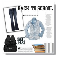 #backtoschool by keri-cruz on Polyvore featuring polyvore fashion style Madewell maurices Sherpani Forum
