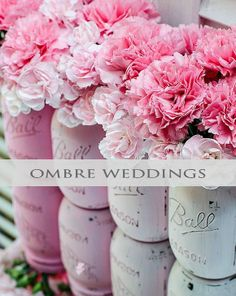 Can't decide on just one color? Ombre is the perfect method to blend your color theme! #ombre #wedding