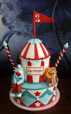 Circus Cake- would be cute to try