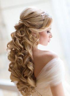 acconciature sposa capelli lunghi - Cerca con Google
