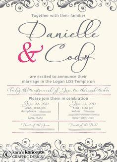 karas koncepts graphic design utah wedding invitations custom wedding invites custom wedding inserts - Wedding Invitations Utah