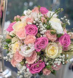 Brautstrauß rosatöne Februar 1 mit Hochzeit