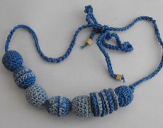 Nursing Necklace - baby blue