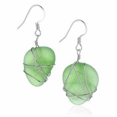Oceana Emerald Glass Earrings