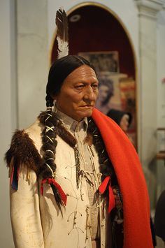 Sitting Bull at Madame Tussaud's New York .
