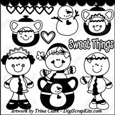 Cookie Jar Gingers 1 Vinyl Cutting Files : Digital Scrapbook Kits, Cute Clip Art, Cutting Files, Trina Clark, Instant downloads, commercial use allowed, great prices.