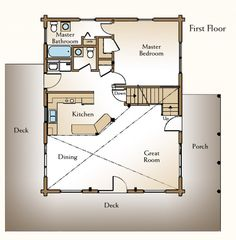 AUGUSTA First Floor. I'd leave it a single level and use the stair area to make the master BR closet larger or part a pantry.