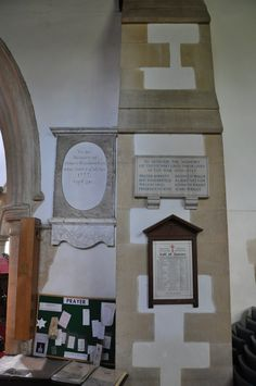 https://flic.kr/p/cJH5dY | Shipton-under-Wychwood-207 St Mary Monuments south-east side of south arcade http://www.bwthornton.co.uk/visiting-stratford-upon-avon.php