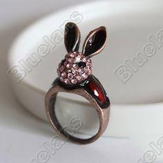 Discount China china wholesale Long Ears Rabbit Retro Fashion Ring US Size 7¼ 6327 [6327] - US$1.49