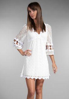 Betsey Johnson crochet bell sleeve dress. wedding rehearsal?