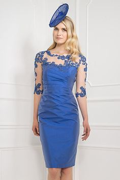 Cheap Rodilla longitud media manga grande de color azul marino novio lf2739…