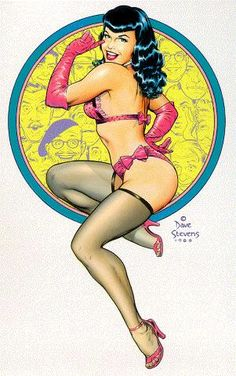 Bettie Page by Dave Stevens#Repin By:Pinterest++ for iPad#
