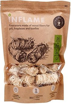 Inflame | Natural Fire Starters Really Comfortable Packaging of Fire-Starting Nuggets 24 pcs in pack (24 Bonfires). For product & price info go to:  https://all4hiking.com/products/inflame-natural-fire-starters-really-comfortable-packaging-of-fire-starting-nuggets-24-pcs-in-pack-24-bonfires/