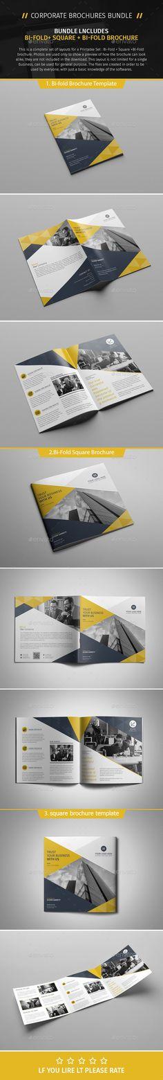 Brochure Bundle 08 — PSD Template #21.6x29.7 #color • Download ➝ https://graphicriver.net/item/brochure-bundle-08/18062067?ref=pxcr