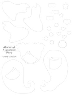 Mermaid Superhero paper character template - Mommy Scene