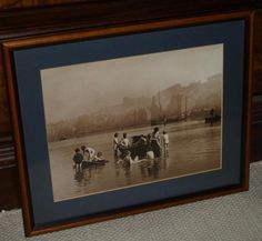 Frank Meadow Sutcliffe Framed Photograph/Print - Whitby.  Water Rats  c1880 s
