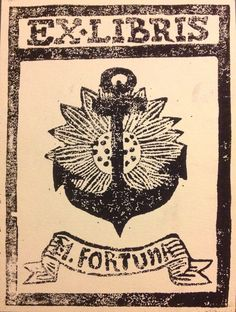My sister made me my very own Ex Libris stamp :D
