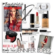 """Jennifer Lopez & Marie Claire..."" by nfabjoy ❤ liked on Polyvore featuring beauty, Michael Kors, Jennifer Lopez, Dolce&Gabbana, MAC Cosmetics, Benefit, Bobbi Brown Cosmetics, Giorgio Armani, Beauty and redlips"