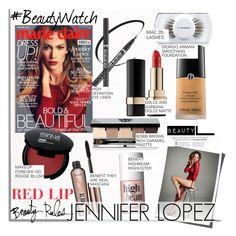 """Jennifer Lopez & Marie Claire..."" by nfabjoy ❤ liked on Polyvore featuring beauty, Michael Kors, Jennifer Lopez, Dolce&Gabbana, MAC Cosmetics, Benefit, Bobbi Brown Cosmetics, Giorgio Armani, Beauty and redlips"