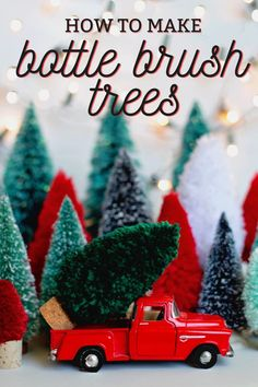 Top Canada DIY blog, Fynes Designs, shares their tutorial on how to make Bottle Brush Trees from untraditional materials. Click now for all the details!