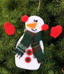 Wired Felt Snowman