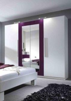 Spálňový nábytok | Šatníkové skrine | Šatná skriňa vera (Biela/Fialová) | Nabytkarstvo.sk - Eshop s nábytkom