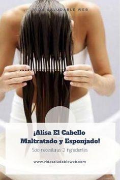 Cómo alisar el cabello maltratado y esponjado