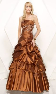 Alyce Designs Copper Ball Gown