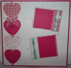 8x8 Hearts a Flutter scrapbook page