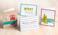 Feel like an artist with the Watercolor Winter Simply Created card kit.