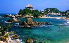 Coastal bliss at Cabo San Juan, Parque Nacional Tayrona - Colombia - travel Places Around The World, Oh The Places You'll Go, Travel Around The World, Places To Travel, Places To Visit, Colombia Travel, Cuba Travel, Visit Colombia, Dream Vacations