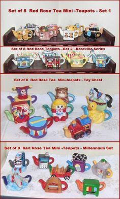 Shop for everything but the ordinary. More than sellers offering you a vibrant collection of fashion, collectibles, home decor, and more. Red Rose Tea, Small Tea, Tea Pot Set, Childhood Days, Miniature Figurines, Ol Days, Gifts For Family, Red Roses, Toy Chest