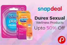 Snapdeal is offering Upto 50% off on Durex Sexual Wellness Products Including #condoms, Vibrating Rings, Lubes.  http://www.paisebachaoindia.com/durex-sexual-wellness-products-upto-50-off-snapdeal/