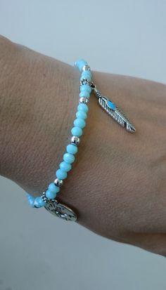 Armbandje met glimmende facetkraaltjes / Fijn kralenarmbandje / Delicaat armbandje bohochic gypsy door Suusjabeads op Etsy