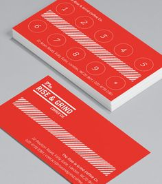Rise and Grind Loyalty: inspired by a vintage look and feel, this design merges classic photography with trendy typography to create a laid-back look and feel. #moocards #businesscard